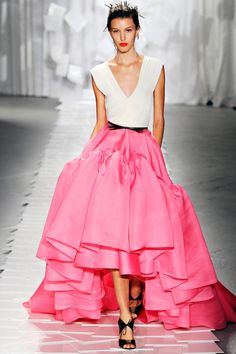 Large ruffles at bottom of skirt give it a classy look!
