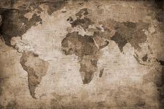 World Map, brown fototapet, 295kr/m2 - Fri Frakt   Rebel Walls Sverige