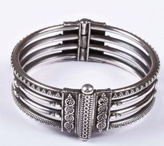 925 Solid Sterling Silver Bangle Stylish Jali Work Easy to Open 53 mm Bangles, Bracelets, Traditional Design, Asian, Sterling Silver, Stylish, Easy, Handmade, Accessories