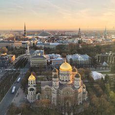 Vue panoramique depuis le dernier étage du Radisson Blu Riga