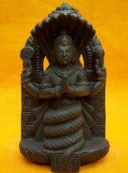Yoga Guru- Patanjali Statue Incarnation of Adisesha Hand Carved Black Stone Sculpture 6.3 Inch $99.00