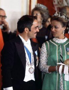 Princess Muna and king Hussein.