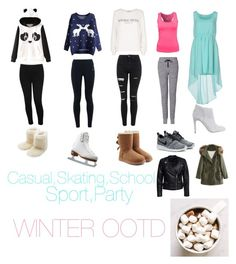 """Winter Outfits"" by mary-mara on Polyvore featuring Garcia, M&Co, Riedell, NIKE, Wildfox, Topshop, UGG Australia, rag & bone, Duck Farm and Casadei"
