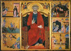 Guido di Graziano San Pietro in trono, Annunciazione, Natività di Cristo e storie di san Pietro (ca. 1280) Siena, Pinacoteca nazionale