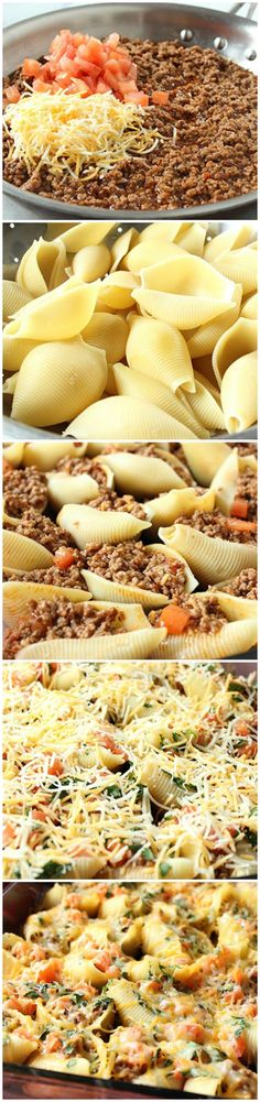 Taco Stuffed Pasta Shells (Original recipe was missing, so I put alternative…