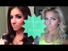 Brunette to Blonde | How I Did It At Home! - YouTube