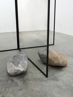 Alicja Kwade Changed (fig. II) 2016 Stone, aluminum, mirror, glass, blackened steel 118 x 97 x 133 inches (299.7 x 246.4 x 337.8 cm) Unique AKW 311