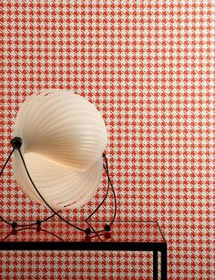 Sharp and sophisticated houndstooth wallpaper from Boussac - bring style and glamour into your home