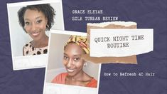 QUICK NIGHT TIME ROUTINE AND HOW TO REFRESH 4C HAIR - YouTube Night Time Routine, Relaxer, 4c Hair, Natural Styles, Natural Curls, Curly Hairstyles, How To Become, Feelings, Youtube