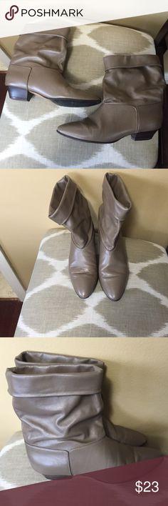 Joyce Tan Leather Ankle Boots Size 6.5M Joyce Tan  Leather Ankle Boots Size 6.5M Joyce Shoes Ankle Boots & Booties