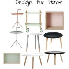 #scandinaviandesign #tables #beautyismytreasure Interior Decorating, Interior Design, Scandinavian Design, Dining Chairs, House Design, Copenhagen, Polyvore, Tables, Stuff To Buy