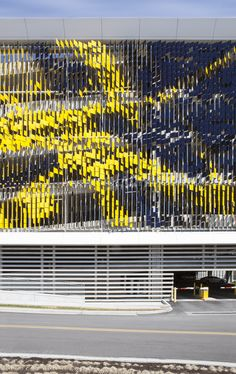 Parking Structure Art Facade designed by Urbana, Sidney & Lois Eskenazi Hospital, 720 Eskenazi Avenue, Indianapolis, IN 46202, USA - 2014.