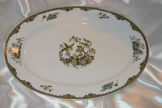 Absolutely-Beautiful-Serving-Platter-Noritake-Navarre-Long-Tailed-Birds-Flower