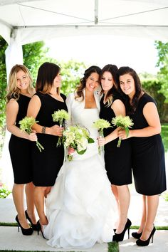 Simple Black Bridesmaid Dresses - PHOTO SOURCE • JAMIEY PHOTOGRAPHY