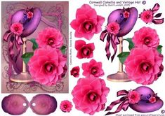 If you like 3D decoupaging, I believe this will become one of your favourite sheets to work with ;)Pink and Purple in a Perfect combination :) This beautiful pink camellia was photographed by Davina Rundle, and she gave me permission to use it in my designing. The card can be used for a lot of different occations.