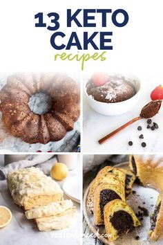 These Keto Cake Recipes prove that you can still enjoy sweet treats without supercharging it with carbs and sugar. But that's not all! Some of these low carb cakes have some of the most ingenious ways of incorporating veggies. So, go on! Whip up some at home and see for yourself. #realbalancedblog #ketocakerecipes #lowcarbcakerecipes #ketocakes Keto Cake, Cake Recipes, Best Dessert Recipes, Low Carb Desserts, Fun Desserts, Doughnut, Sweet Treats, Veggies, Gluten Free