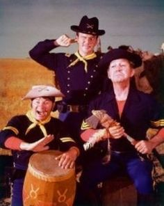 Larry Storch, Ken Berry, and Forrest Tucker of F Troop