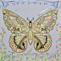 Meu primeiro desenho do Magical Jungle. #butterfly #borboleta #johannabasford…