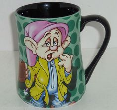 Walt Disney World Dopey Coffee Mug Mornings Disneyland Snow White Dwarf