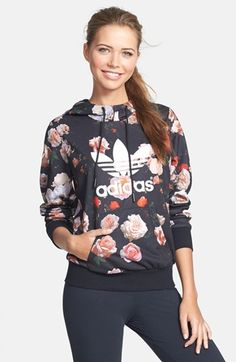 adidas Trefoil Rose French Terry Hoodie available at #Nordstrom