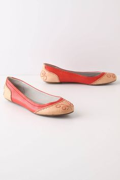 Anthropologie March 2012 - funky ballet flats in bold colors!