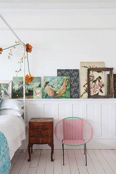 Rustic meets modern bedroom decor via light locations london....x