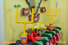 DIY Football Tablescape! Perfect for any game day celebration this season! Catch Home and Family weekdays at 10/9c on Hallmark Channel!