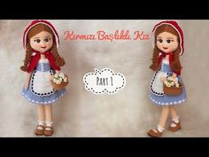 Part 1   45cm Amigurumi Kırmızı Başlıklı Kız (ENG SUBTITLES ON) subtítulos ESPAÑOL - YouTube Crochet Baby Mobiles, Crochet Toys, Knit Crochet, Beaded Bags, Youtube, Lily, Kawaii, Dolls, Disney Princess