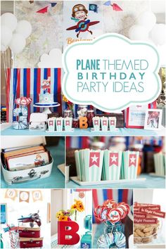A High Flying Boy's Airplane Birthday Party - Spaceships and Laser Beams