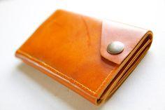 Leather iPhone Wallet in Cognac by RobbieMoto on Etsy, Joe has damn good taste :)