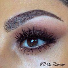 Brow and eyelashes