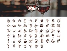 Tasty Icons — 500 hand-drawn food icons: Drinks and Beverages Icons