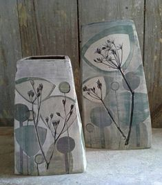 New pieces in shades of grey click the image or link for more info. Pottery Pots, Raku Pottery, Slab Pottery, Ceramic Workshop, Pottery Workshop, Pottery Studio, Ceramic Techniques, Pottery Techniques, Slab Ceramics