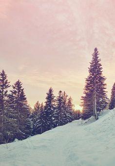 Beautiful! Slopes at dusk.