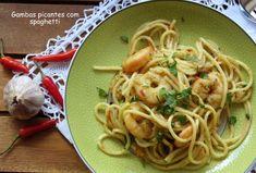 Gambas Picantes com Spaghetti