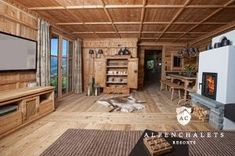 Chalet Design, Chalet Chic, Simply Home, Cabins And Cottages, Log Homes, Home And Living, Rustic Decor, Man Cave, Indoor