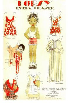 The Paper Collector: Paper Doll Exhibit at CAFAM, Topsy Paperdoll, Funky Paperdolls, Printable Paper Doll Patterns, Paper Dolls, Paper, Kids Activities Printables, Cool teen crafts