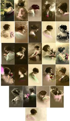 Everything Vintage Unknown BEautiful Women of Copyright Free Images to Download