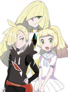 Lusamine Gladion and Lillie