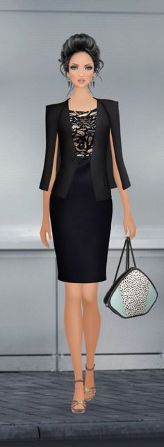 "Covet Fashion Game ""Professional Prowess"" Challenge - Styled by Candy Eckart ☮★ DiamondB! Pinned ★☮"