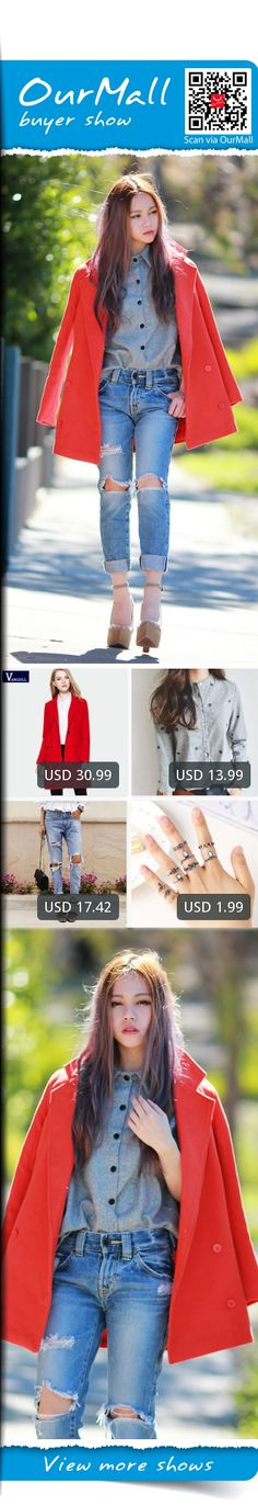 This is Chloe T's buyer show in OurMall;  1.Embroidery Long Sleeve Women Blouses And Shirts Female Ladies Casual Shirt Tops Striped 2.2016 Spring Red European suit Coats Womens Wool Blend Jacket Parka Trench Single Button Outwear #COAT #SHIRT please click the picture for detail. http://ourmall.com/?VRVFRj #coat #windbreaker #longcoat #springcoat #girlscoat #coatforwomen #femalecoat #trenchcoat #capecoat #rackcoat #womencoat