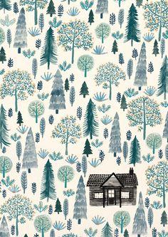 Immagine di tree, house, and wallpaper
