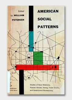 American Social Pattern #bookcoverdesign #midcentury #aquavelvet