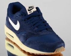 Nike Air Max 1 Essential Men Lifestyle Casual Sneakers New Midnight Navy Sail | eBay