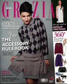 Shruti Hassan on the Cover of Grazia Magazine - October 2013.