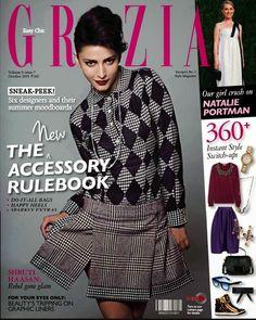 Shruti Hassan on the Cover of Grazia Magazine - October 2013.