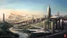 "100 Imaginative ""Cities Of The Future"" Artworks - Hongkiat"