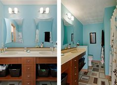 Bathroom Very Pretty Blue Brown Decor Bath Ideas