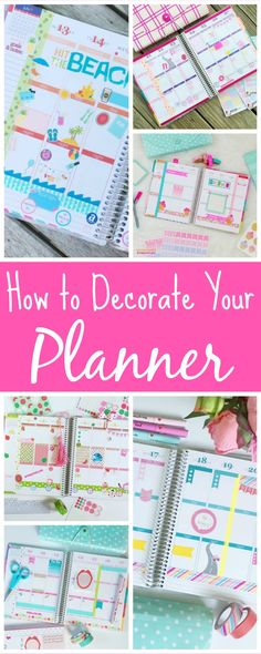 How to Decorate Your Planner - The Chic Life #mychicplanner