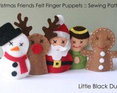Items similar to KIT: Felt Christmas Friends Finger Puppets Sewing Kit on Etsy Felt Puppets, Felt Finger Puppets, Hand Puppets, Christmas Friends, Felt Christmas, Christmas Projects, Felt Projects, Xmas, Felt Crafts